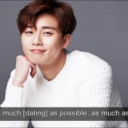 Park Seo Joon talks about his dating history and current dating status