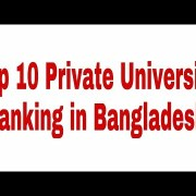 Top 10 Private Universities in Bangladesh by world University web Ranking