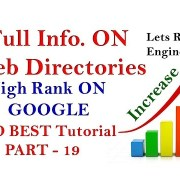 WEB DIRECTORIES - High Rank On Google - SEO Tutorial For Beginners PART - 19