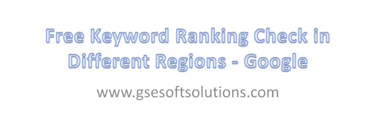 Free Keyword Ranking Check in Different Regions - Google