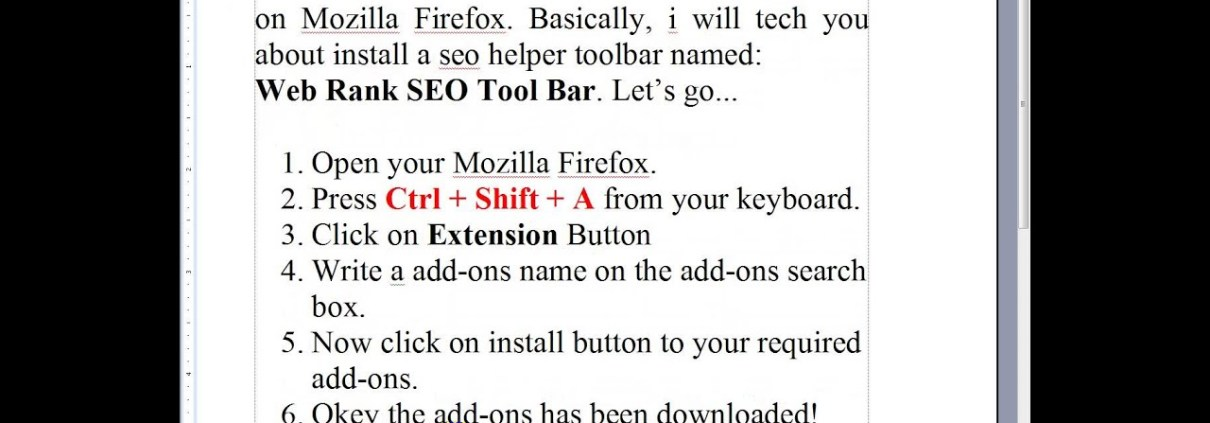 How to install an addons: web rank seo toolbar on mozilla fire fox