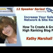 Kathy Marshall | Increase Series | How To Create A Great, High ranking Blog Post