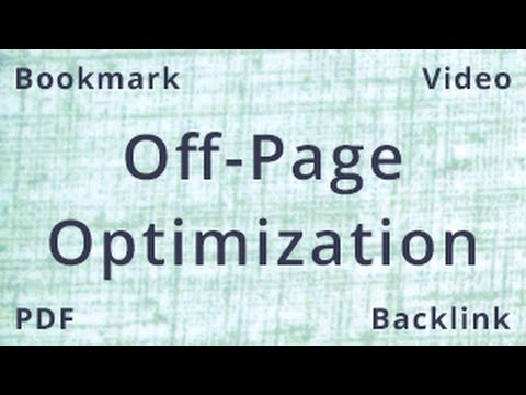 Off Page Optimization | Off Page SEO Tutorial | SEO Tutorial