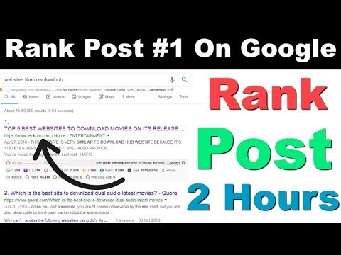 QUICKLY RANK ANY POST OR WEBSITE IN GOOGLE WITHOUT SEO 2019 | RANK ANY WEBSITE IN 2 DAYS WITHOUT SEO