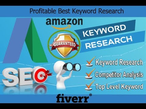 SEO Keywords Research Service || Keyword Research For Website Rank || Fiverr