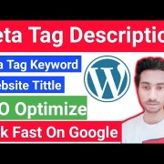 How to Add Meta Tags Description And Keyword in Your Website SEO Optimize