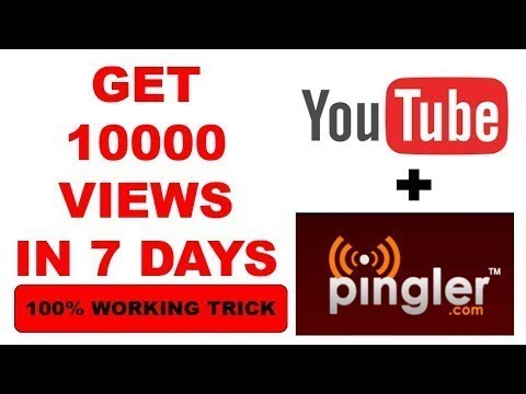 How to get 1000 views on YouTube | Using Pingler.com & SEO | Easy Trick |HINDI 2019| 10K viewQuickly
