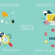 SEO Promotion. Animated flat icons pack. | After Effects Project Files - Videohive template