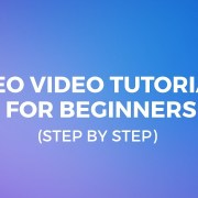 SEO Video Tutorial For Beginners