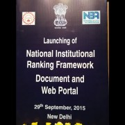 Launch of National Institutional Ranking Framework Document & Web Portal
