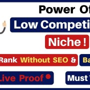 Rank Your Website Without SEO & Backlinks | Power of Low Competition Niche| Earn Money With Blogging