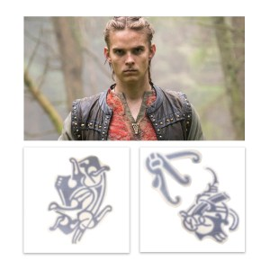 Vikings Hvitserk Marco Ilso Production Used Tattoo Art Transfer Pieces Set