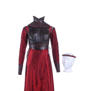 Vikings Lagertha Katheryn Winnick Screen Worn Dress Vest Collar Head Piece & Cuffs Ep 414 & 417