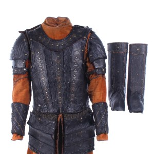 Vikings Aethelwulf Moe Dunford Screen Worn Armor Set Cuffs & Gaiters Ep 502-503