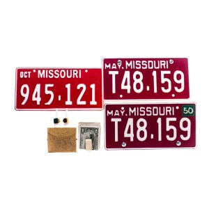 Fargo Ebal Violante Francesco Acquaroli Screen Used License Plates Rings Currency Clip & Case Ss 4