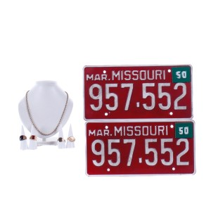Fargo Leon Bittle Jeremie Harris Screen Used Necklace Ring Set & License Plate Ss 4