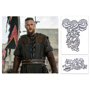 Vikings Ubbe Jordan Patrick Smith Production Used  Tattoo Art Transfer Pieces