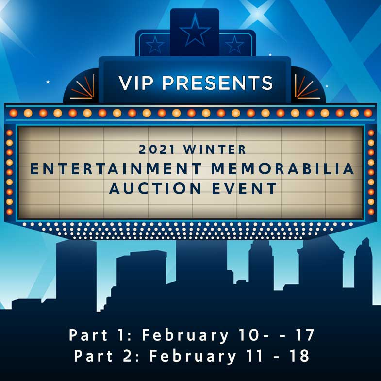 2021 Winter Entertainment Memorabilia Auction Event