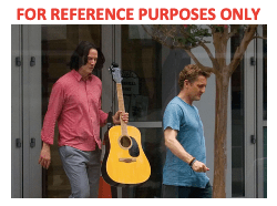Lot #54 – Bill & Ted Face The Music (2020) Ted Keanu Charles Reeves Production Used Guitar
