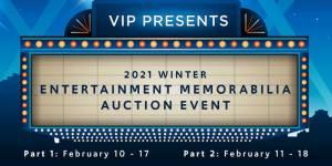 Winter Entertainment Memorabilia Auction Event