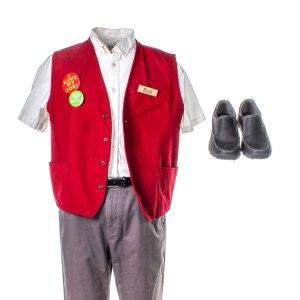 Lot #1 – Bad Trip Bud Malone Lil Rel Howery Screen Worn Employee Uniform Ch 2