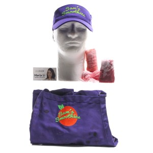 Lot #9 – Bad Trip Chris Carrey Eric Andre Screen Used Business Card Apron Hat & Bandages