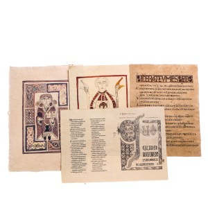 Lot #187 – Vikings Screen Used Lindisfarne Monastery Graphic Icon Page Set 3 Ep 102