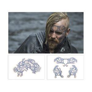 Lot #152 – Vikings Halfdan Jasper Paakkonen Production Used Head Tattoo Transfers Set 2