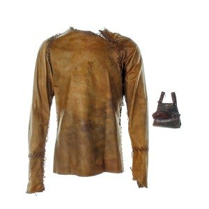 Lot #31 – Vikings Floki Gustaf Skarsgard Screen Worn Shirt & Pouch Ep 102