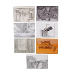 Lot #587 – Vikings Production Used Handmade Sketches  Ss 4-6