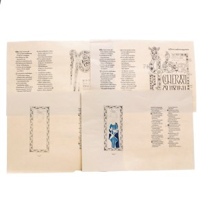 Lot #185 – Vikings Production Used Prototype Lindisfarne Monastery Dbl Page Graphics Set 1