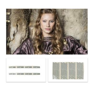 Lot #153 – Vikings Queen Aslaug Alyssa Sutherland Production Used Tattoo Transfers Set 1