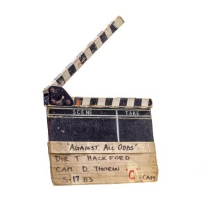 Lot #4 – Against All Odds (1984) Production Used Clapperboard