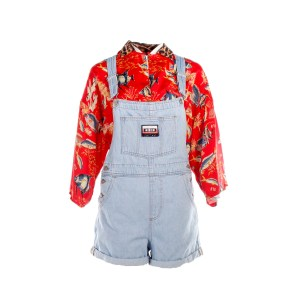 Lot #68 – Bill & Ted Face The Music (2020) Thea  Samara Weaving  Screen Worn Shirt Overalls Earrings & Ring Ch #2