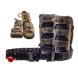 Lot #80 – Captain Power and the Soldiers of the Future (1987–1988) Screen Worn Lace-Up Shoes Belt Gaiters & Grenade