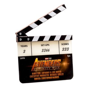 Lot #41 – Avengers Infinity War (2018) Production Crew Gift Clapperboard