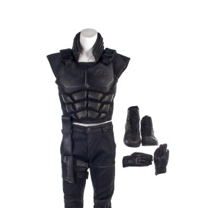 Lot #7 – Altered Carbon (2018-2020) Colonel Carrera Screen Worn Armor Pants Gun Holster Shoes & Gloves Ss 2