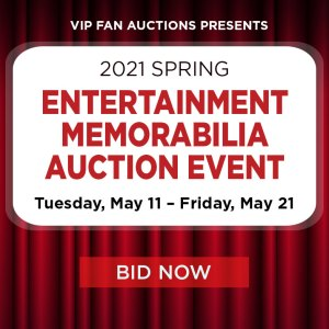 Spring Entertainment Memorabilia Auction Event