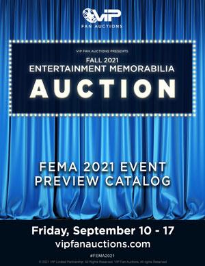 Fall 2021 Entertainment Memorabilia Catalog