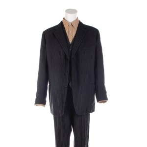 Lot #11 – Respect CL Franklin Forest Whitaker Production Worn Suit Shirt & Suspenders