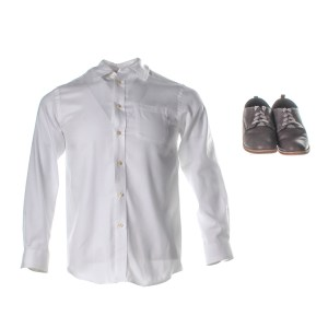 Lot #69 – Respect Young Cecil Franklin Peyton Jackson Screen Worn Shirt & Shoes Ch 1-2 Sc 7-11