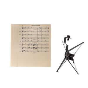 Lot #5 – Respect Production Used A Natural Woman Music Sheets & Microphone Suspension Shock Mount