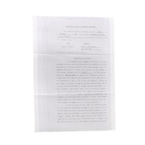 Lot #9 – Respect Production Used Exclusive Artist's Recording Agreement