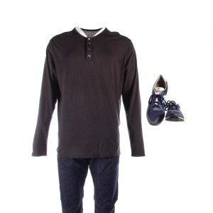 Lot #176 – This is the End (2013) Jason Segel Screen Worn Shirt Pants & Shoes
