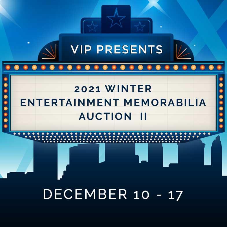 2021 Winter Entertainment Memorabilia Auction II