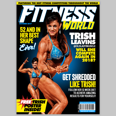 This one-of-a-kind fitness poster can be customized for any fitness competitor looking to celebrate their appearance in their Fitness Contest.