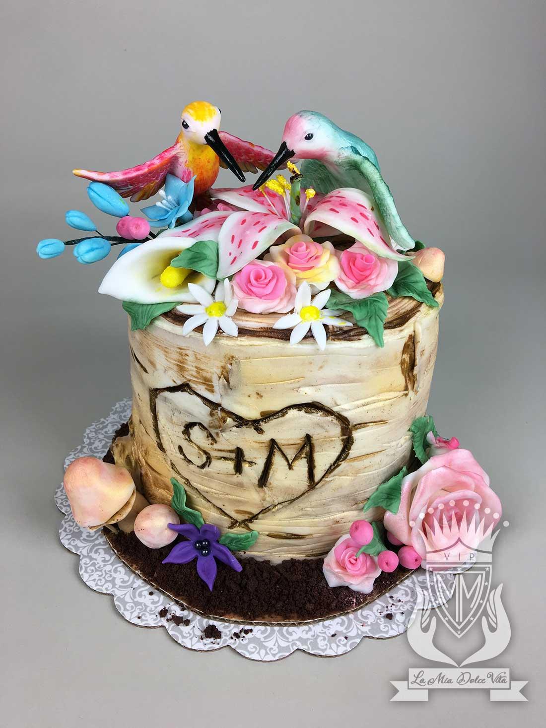 Marvelous Vip La Mia Dolce Vita Cake Art Hummingbird Birch Tree Cake Funny Birthday Cards Online Necthendildamsfinfo