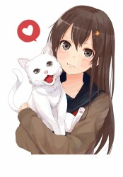 Anime Girl Clipart Cat Anime Girl With Brown Hair And Brown Eyes Transparent PNG Download #1057085 Vippng