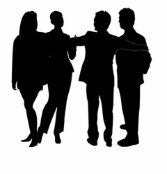 Group Silhouette Png Group Of People Silhouette Png Transparent PNG Download #150201 Vippng
