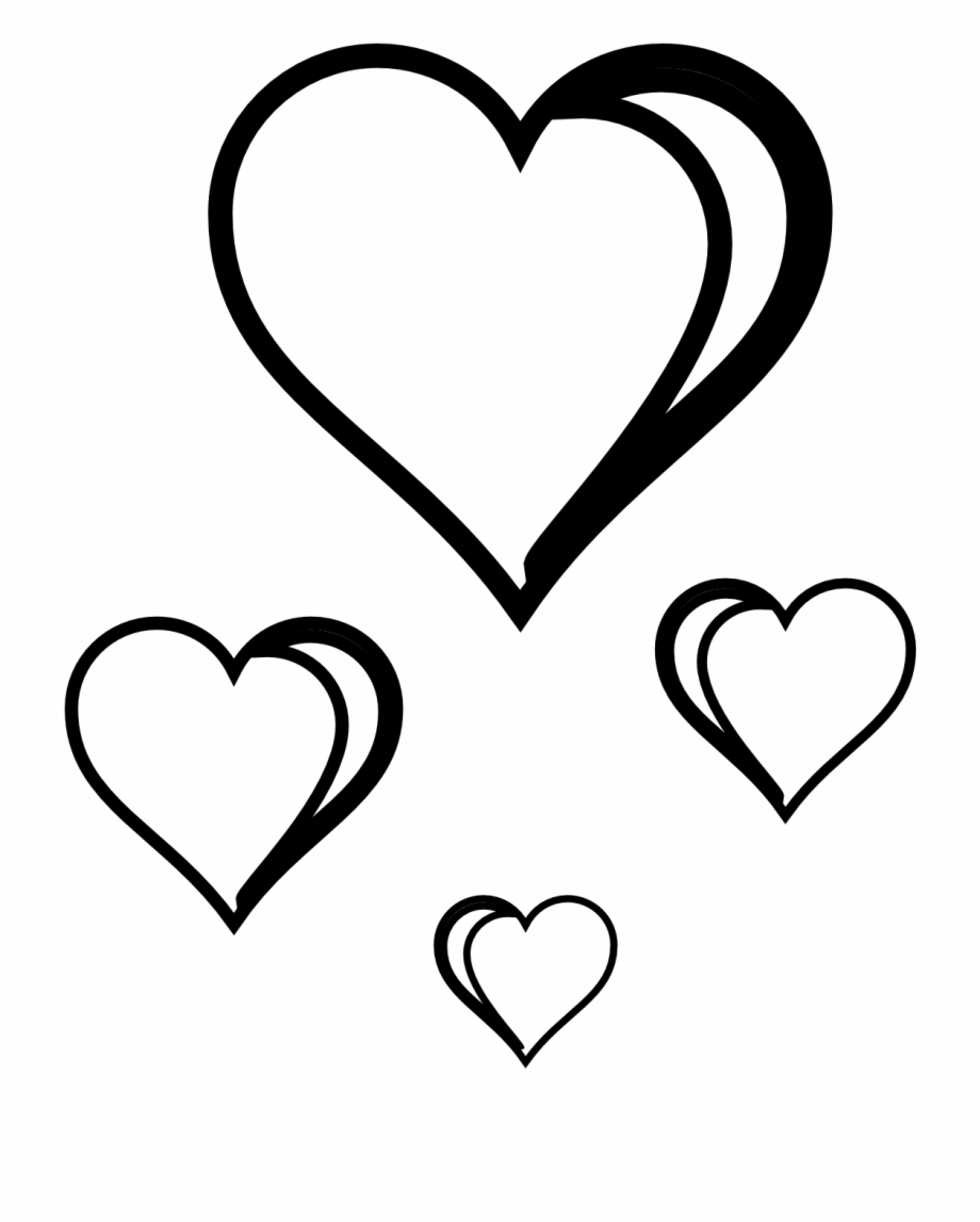 Heart Png Black : heart, black, Black, Heart, Clipart, White, Clipartfest, Transparent, Download, #20725, Vippng